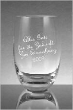 Longdrinkglas mit Name