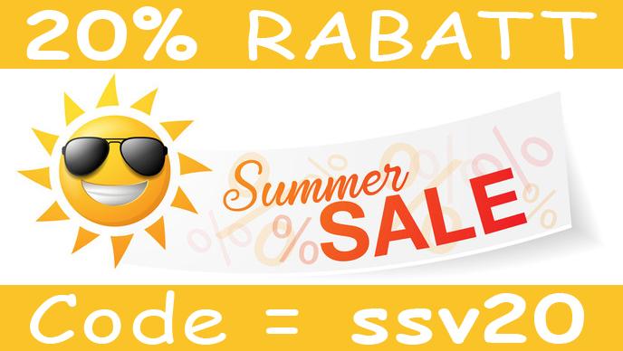 20% RABATT - Code = ssv20