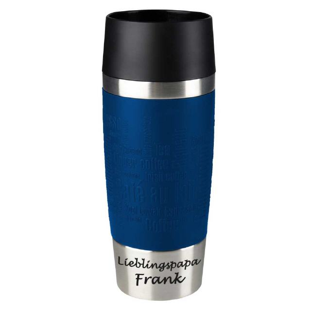 Emsa Thermobecher [blau] mit Text