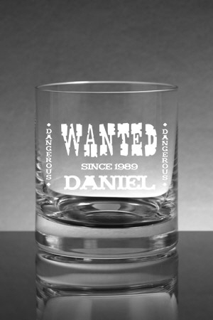Whiskyglas [PARIS] mit Wanted Logo