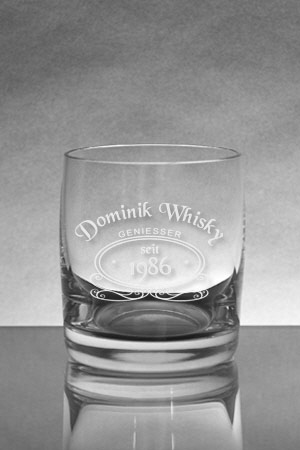 Whiskyglas [SOIREE] mit Whiskylogo 1